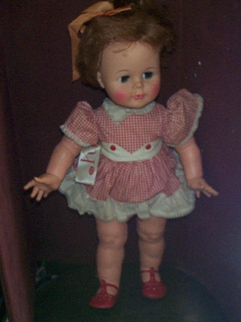 """845: Ideal Kissy Doll  Measures 23"""" tall  Buyer to pay"""