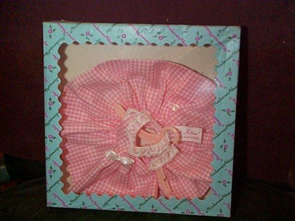 """853: Madame Alexander """"Littlest Kitten""""  Pink dress # 0"""