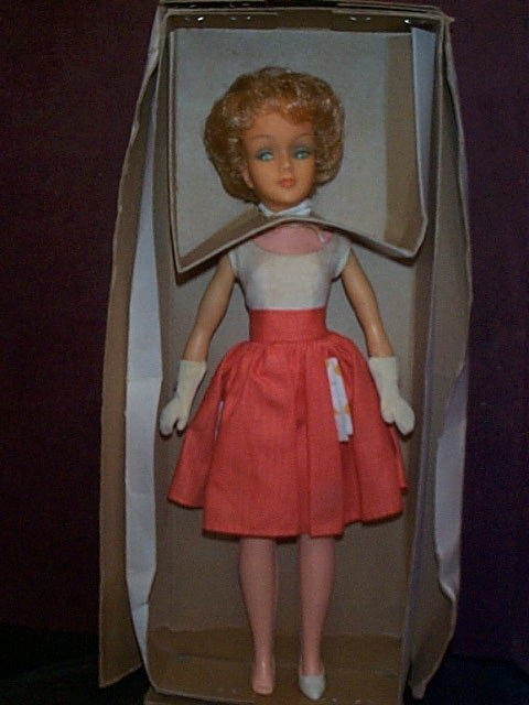 864: Plastic and soft rubber Barbie type doll  Box mark
