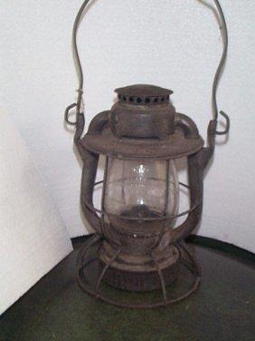 """Dietz Railroad Lantern  Marked: NYCS  Measures 10"""""""