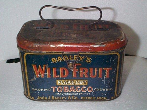 932: Vintage Advertising Tobacco tin/box  Bagley's Wild