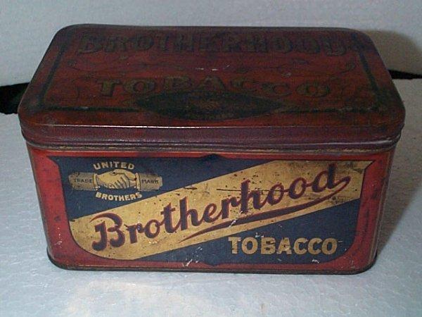 934: Vintage Tobacco Advertising tin  Brotherhood Tobac