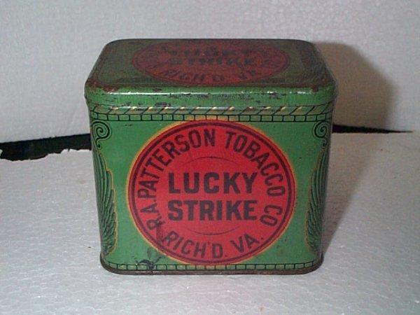 935: Vintage Tobacco Advertising Tin  Lucky Strike  Mea