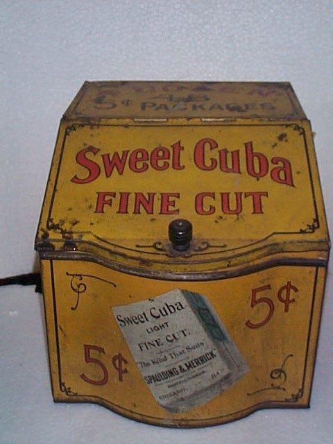 937: Vintage Advertising Store Display Tobacco Tin  Swe
