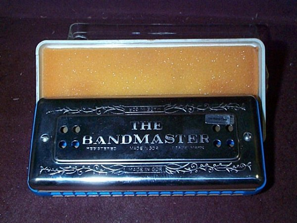 1106: The Bandmaster Harmonica made in Germany Measures