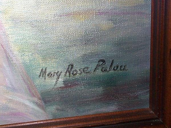 300: Oil on canvas Impressionist painting, signed Mary - 2