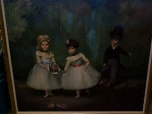 Oil on canvas Impressionist painting, signed Mary