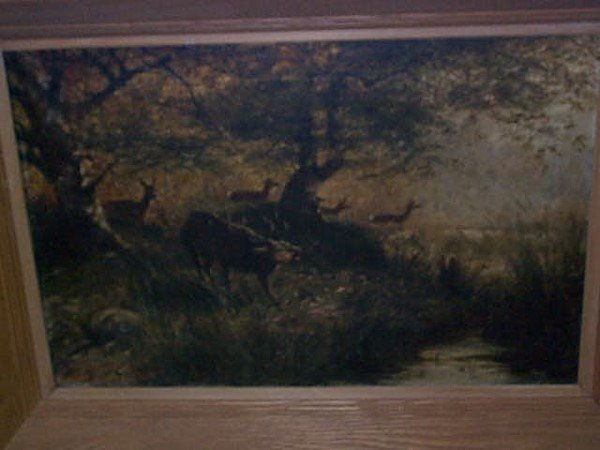 303: 19th C. Oil on canvas Impressionist painting signe