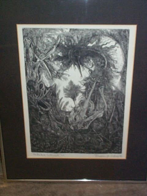 309: Abstract lithograph, signed Bradley F. Kepashe, en