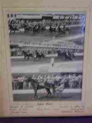 Horse racing photograph attributed to Bernard Stud