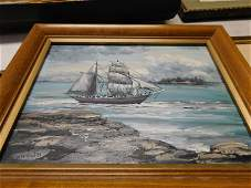 Oil on Board Clipper Ship