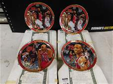 Lot of 4 Michael Jordan Collector Plates