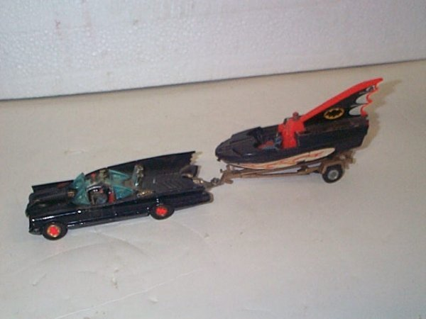 12: Corgi Toys  Batmobile  Comes with Glastron Bat boat