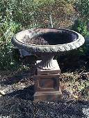 552: pair of cast-iron oversized urns. Local delivery a