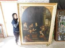 Oversized 19th Century Oil on Canvas