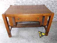 Oak Arts and Crafts Desk