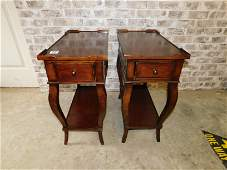 Pair of Ethan Allen Mahogany End Tables