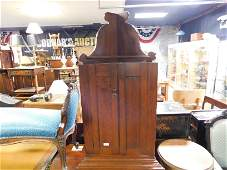 Country Pine Wall Hanging Corner Cabinet