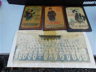 Lot of Military Wall Plaques and Photos