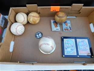 Lot of Autographed Baseballs and Sports Cards