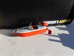 Tin Wind-Up Speedboat