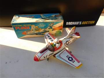 Japanese Tin Mystery Action Plane