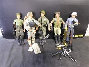 Lot of 5 G.I. Joe Figures