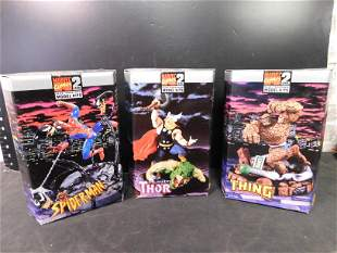 Marvel Model Kit Lot of 3 SpiderMan Thor and The