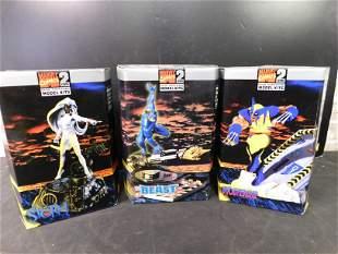 Marvel Model Kit Lot of 3 Wolverine Beast Storm
