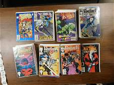 Short Box of X-Men 2099 and Punisher War Journal Comic