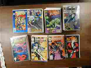 Short Box of XMen 2099 and Punisher War Journal Comic
