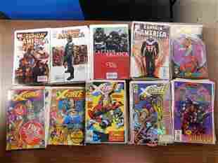 Short Box of Brubaker Captain America and X-Force Comic
