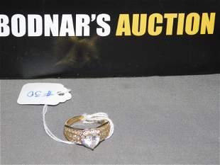Sterling Gold Vermeil Heart Ring