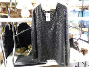Lafayette 148 Black and Gold Blouse NWT