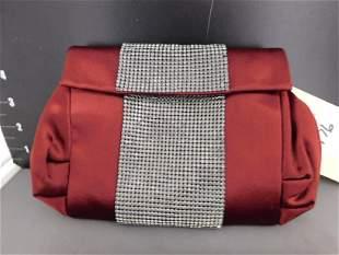 Daniel Swarovski Burgundy Evening Bag
