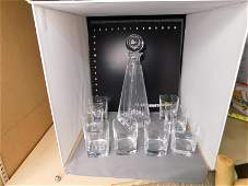 Tiffany & Co Decanter with Unsigned Glasses