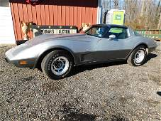 1978 Silver Anniversary Chevy Corvette car