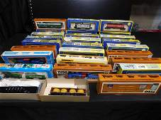 Large Group Lot of HO Scale Engines and Rolling Stock