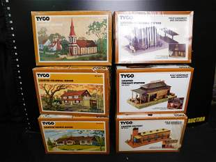TYCO HO Scale Building Lot of 6