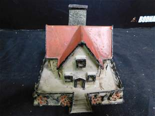 Early Tin Cottage Bank