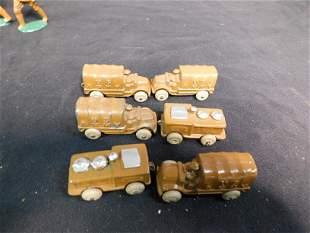 Lot of 6 metal  Military Vehicles /Trucks
