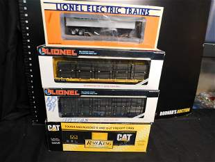 Group Lot of 4 Train Cars including Lionel and MTH
