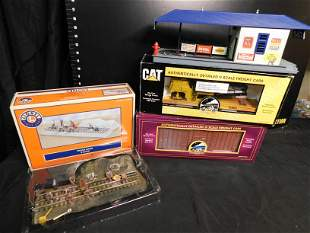 Lot of Train Cars and Accessories