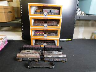 Group Lot of Lionel Train Cars