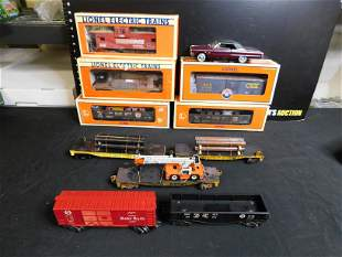 Lot of Train Cars and Motorized Diecast to Run on Track