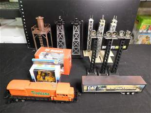 Lot of Train Cars and Accessories including Lionel