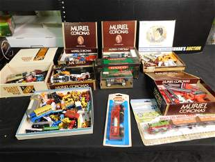 Large Lot of Diecast and Plastic Cars and Trucks