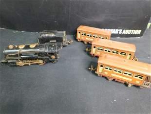 Pre-War Lionel O Gauge Tin Plate Passenger Set with