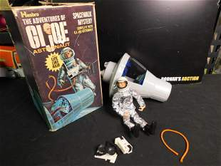 G.I. Joe Astronaut Figure and Space Capsule with Some