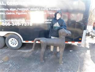 Bronze oversized African statue